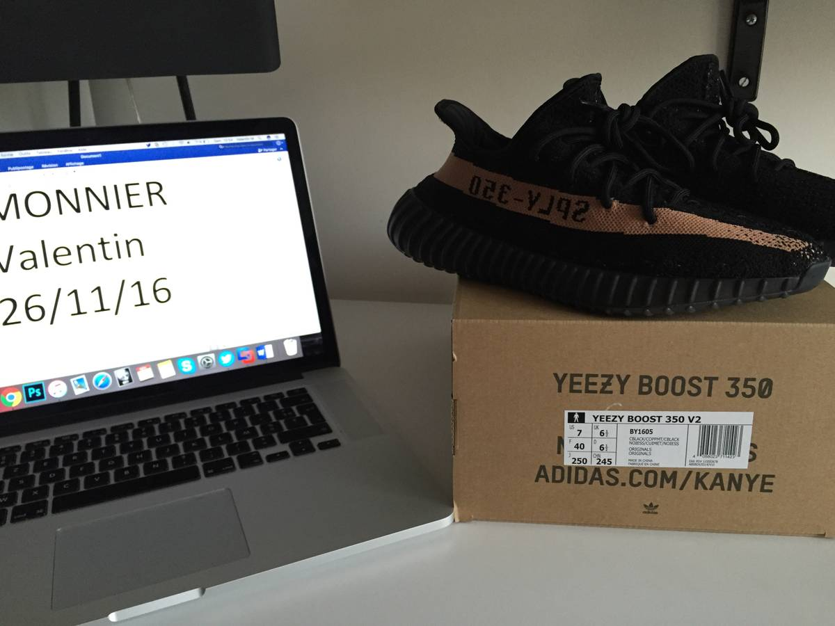 55% Off Yeezy boost 350 V 2 BY 1605 limited core black copper metallic