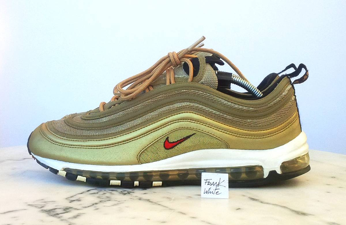Cheap Air Max 97 Gold And Red NHS Gateshead
