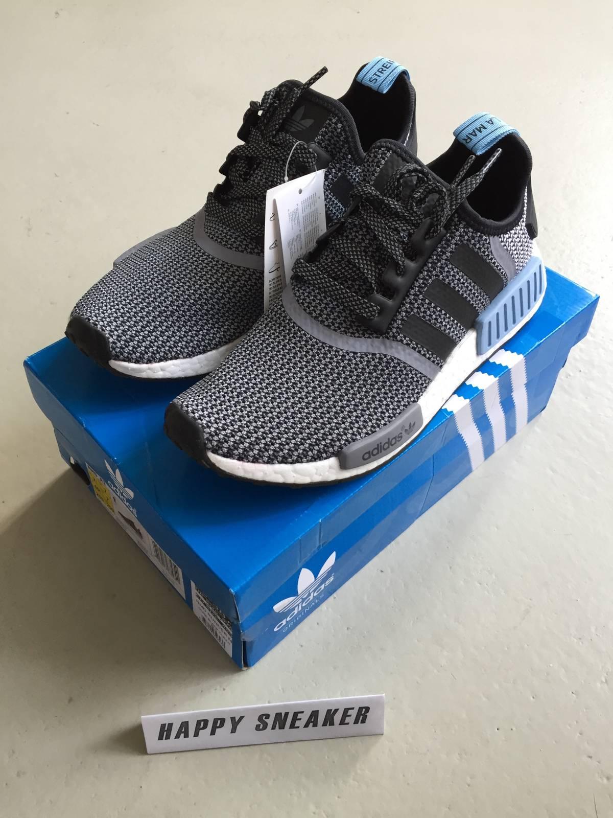 7a662ab58 Adidas NMD R1 Mesh  Black Charcoal  Core Black S31504