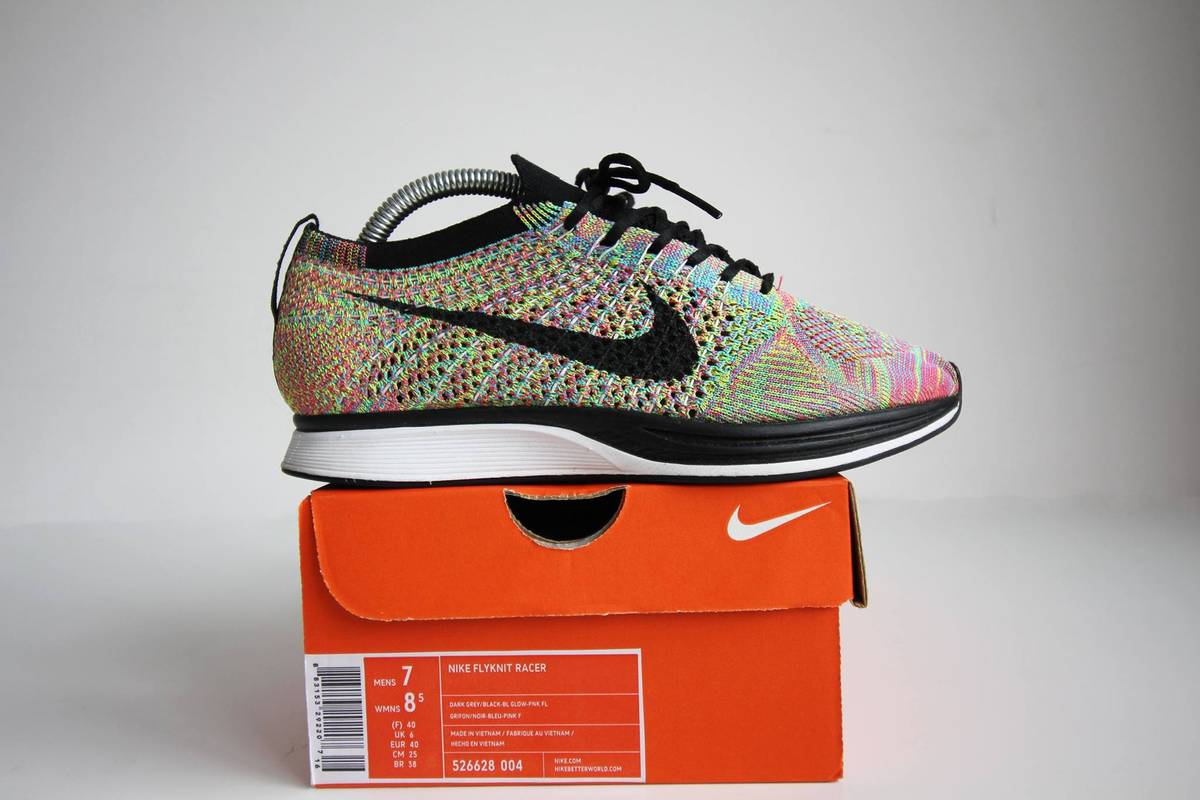 """173167a4e7cfb ... """"Oreo"""" Nike Flyknit Racer Multi color 1.0 General Release - photo 1 4 .  ..."""