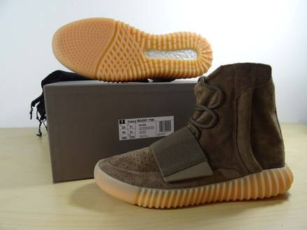 ADIDAS YEEZY BOOST 750 BROWN CHOCOLATE GUM - US10 - photo 1/4