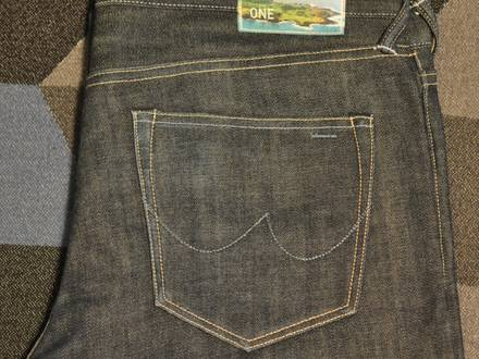 The One Goods The Skinny One Dry Red Selvage Selvedge Jeans W34 L32 34X32 - photo 1/6