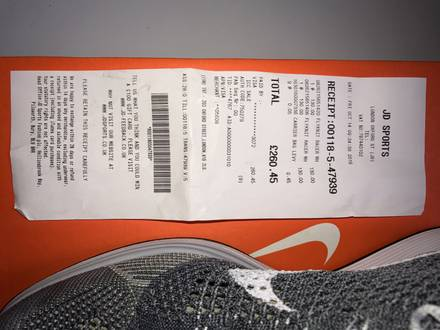 Nike Flyknit Racer Platinum with receipts - photo 1/8