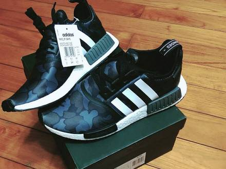 ADIDAS X BAPE NMD BLACK CAMO - photo 1/3