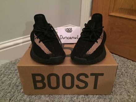 Yeezy Boost 350 V2 - Black/Green - UK 9 / US 9.5 - photo 1/8