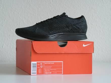 "Nike Flyknit Racer Triple Black ""Midnight"" US 11 - photo 1/3"