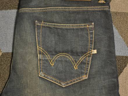 Edwin ED-80 G2 washed Rainbow Selvage Sevedge W34 W32 34X32 Straight Slim Jeans - photo 1/5