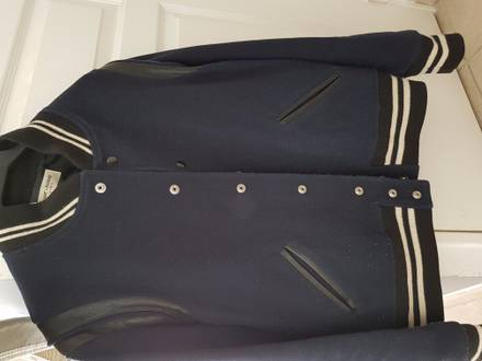 Teddy Varsity jacket Dark Blue - photo 1/3