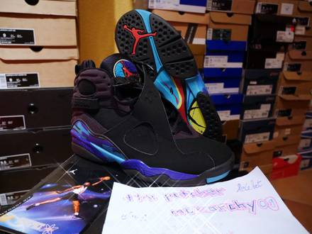 Nike Air Jordan 8 VIII Aqua 2007 Retro US 8.5 EU 42 DS - photo 1/5