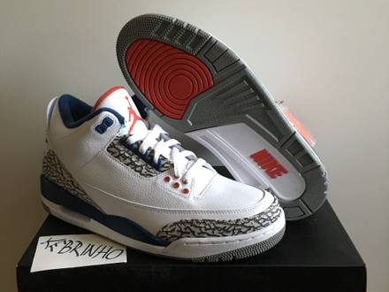 Air Jordan 3 III Retro OG True Blue DS US 9.5 nike air - photo 1/5
