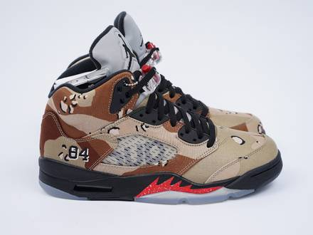 Nike <strong>Air</strong> <strong>Jordan</strong> 5 <strong>Supreme</strong> <strong>Desert</strong> <strong>Camo</strong> - photo 1/4
