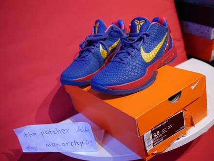 Nike Zoom Kobe VI 6 Barcelona Storm Blue DS unworn 2011 Promo - photo 1/6