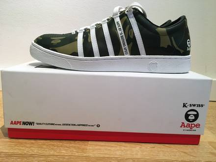 US 11, EU 44 K-Swiss x Aape by <strong>A</strong> <strong>Bathing</strong> Aape * limited * New & Unworn - photo 1/8