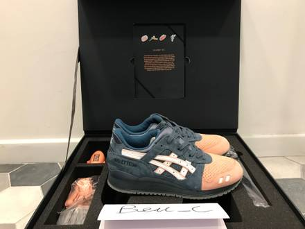 ronnie fieg x asics gel lyte III 3 salmon toe 2.0 made in japan - photo 1/3