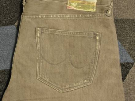 The One Goods The Slim One Stone Washed grey Black Selvage Selvedge Jeans W34 L32 34X32 - photo 1/6