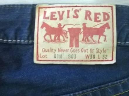 LEVI'S RED Modello Red - Lot 01M S03 RARE - photo 1/8