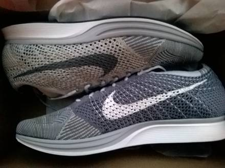 Nike Flyknit Racer Pure Platinum - photo 1/4