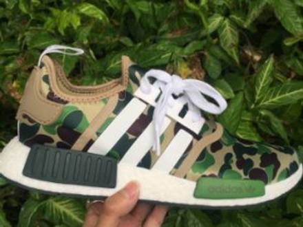 BAPE X ADIDAS NMD GREEN CAMO US9 - photo 1/3