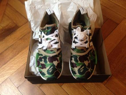 Adidas NMD x BAPE Green size us 9.5 <strong>a</strong> <strong>bathing</strong> <strong>ape</strong> - photo 1/8