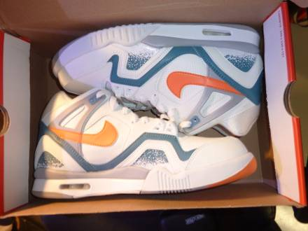 buy popular 47815 064fe For 2014 ltstronggtAIRltstronggt ltstronggtTECHlt nike air tech challenge  ii white clay blue ...