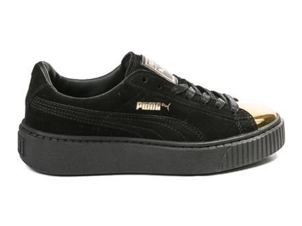Puma Suede Platform Black Gold Toe Woman - photo 1/2