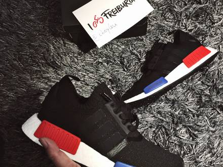 Adidas NMD OG with Blue and Red Lego - photo 1/4
