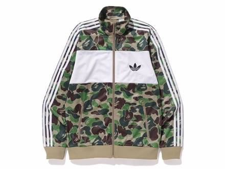 Adidas x Bape Firebird Jacket Green L - photo 1/3