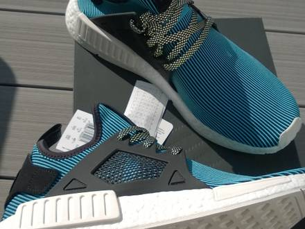 <strong>Adidas</strong> <strong>NMD</strong> <strong>XR1</strong> Cyan Blue blau mid *HYPE* US 12, EUR 46 2/3, UK 11,5 *New *In Box *incl. Receipt - photo 1/4