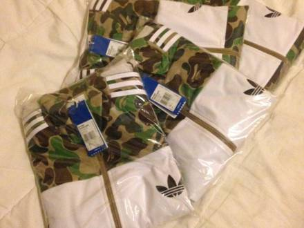 Adidas Oiriginals Bape Firebird Green jacket size M & L tracktop nmd supreme patta box logo the nort - photo 1/3