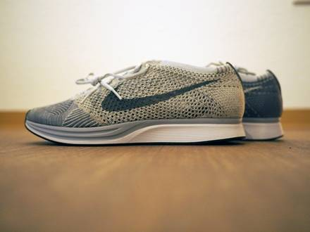 Nike Flyknit Racer Pure Platinum Cool Grey Grau US 10 EU 44 - photo 1/3