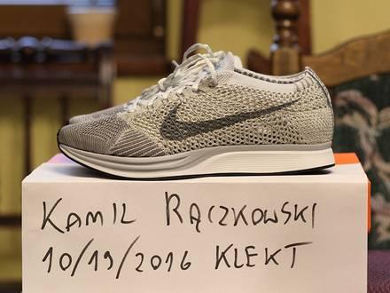 Nike Flyknit Racer Pure Platinum - photo 1/3