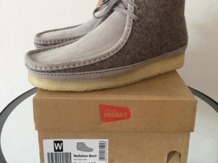 Clarks Wallabee Limited Felt Grey US9 brand new with box! - photo 1/6