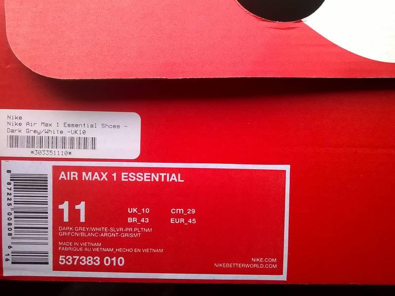 "Nike Air Max 1 ""Essential"" (Grey Ones Retro) - photo 3/3"