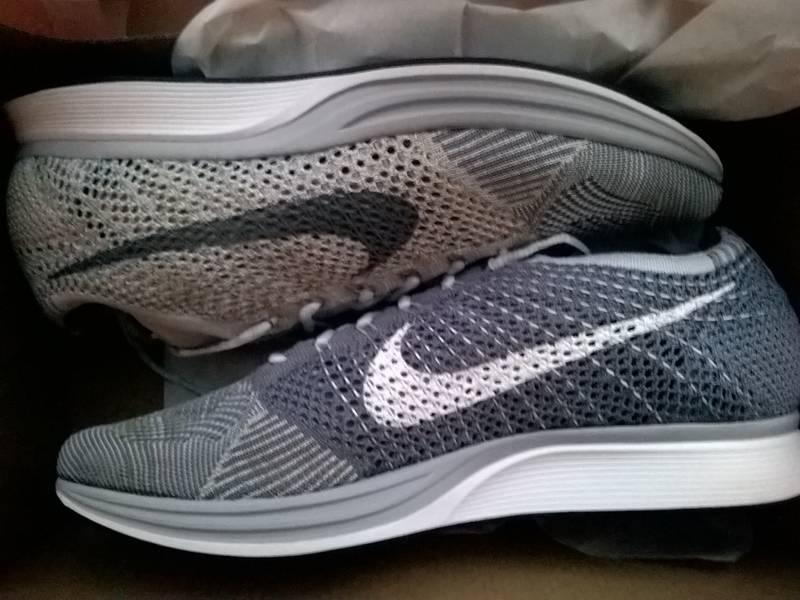 "Nike Flyknit Racer Pure Platinum ""Plats"" - photo 1/4"