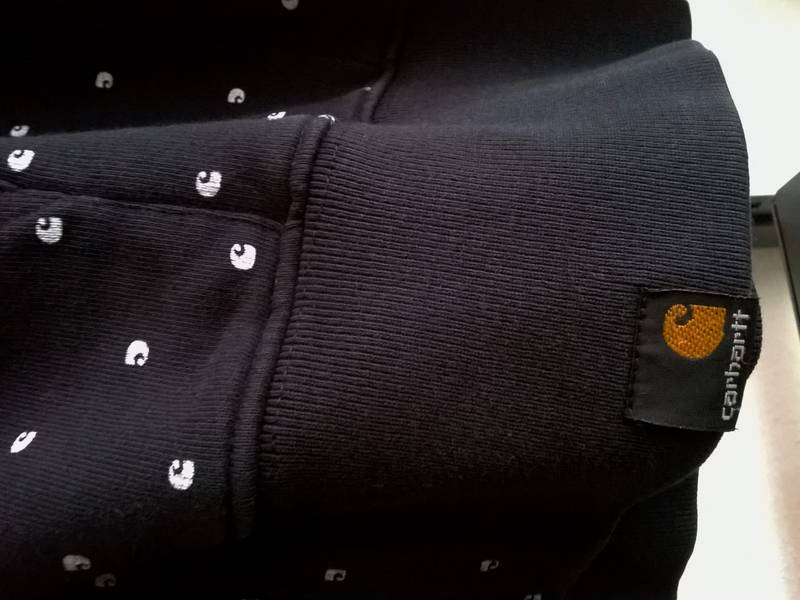 Carhartt Zipper Hoody Allover Print RUGGED WIP blvck dots - photo 3/4
