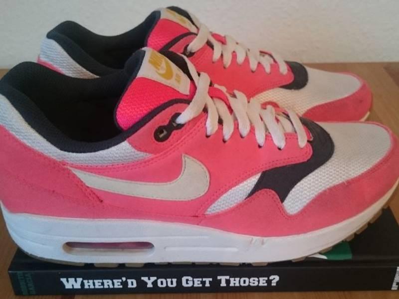 Nike Wmns Air Max 1 Solar Red/White-Seaweed-Gum - photo 1/4