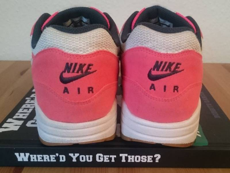 Nike Wmns Air Max 1 Solar Red/White-Seaweed-Gum - photo 3/4