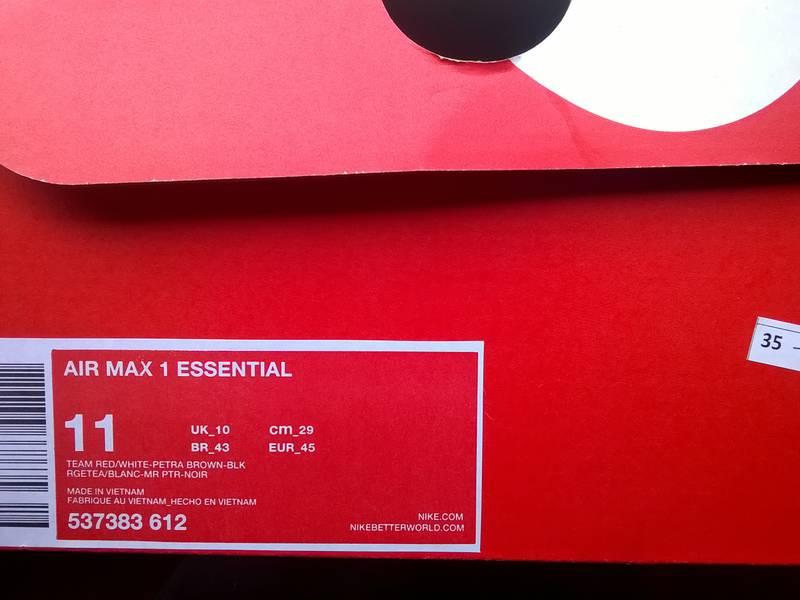 """Nike Air Max 1 """"Essential"""" (Burgundy) - photo 2/3"""