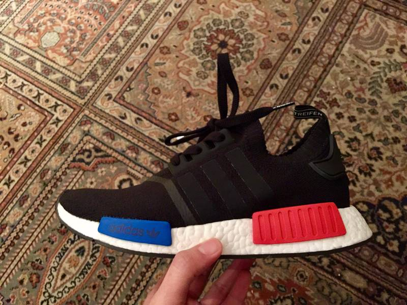 newest ad80c e9ec5 adidas Originals NMD R1 Runner Boost Glitch Camo Black Grey Red