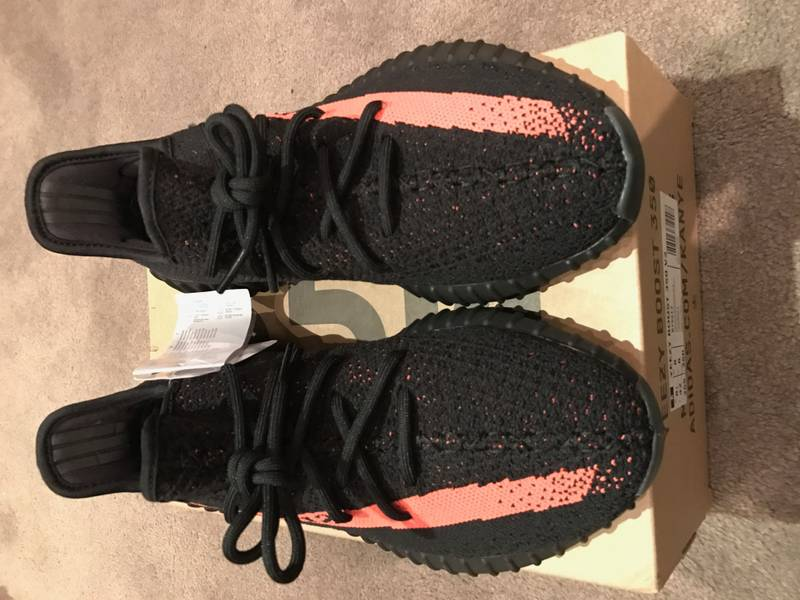 New UA Yeezy 350 Boost V2 SPLY 350 White Red with Low Prices at