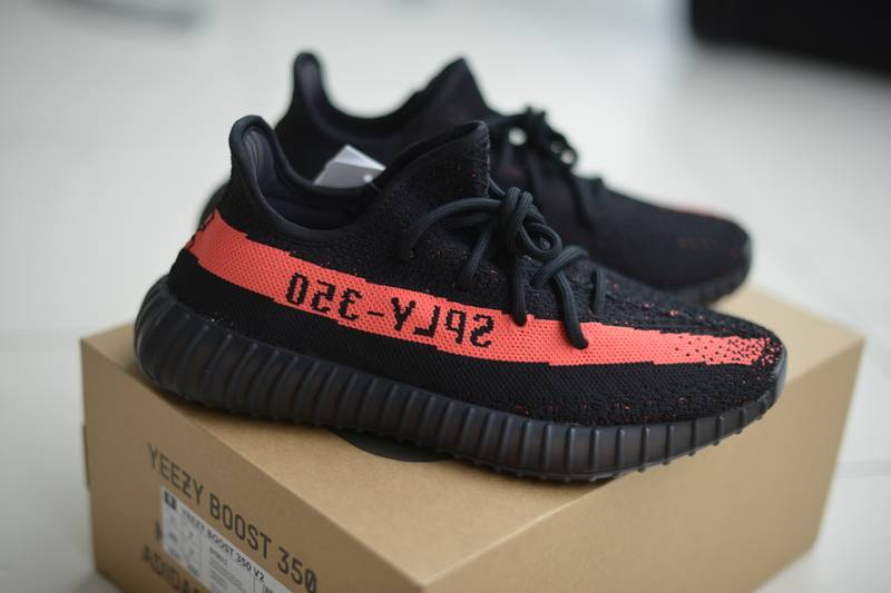 All White Adidas yeezy boost 350 v2 core black red canada Sale