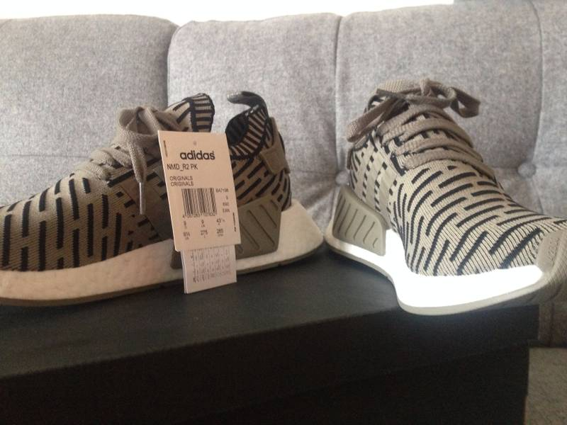 NEW Adidas NMD R2 black white primeknit pk glitch BA7252 xr1