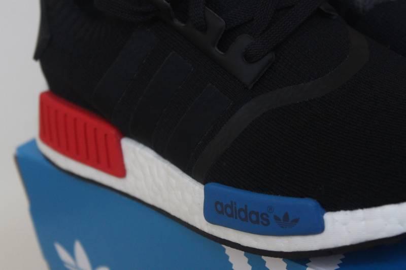 2eba3f6c5 ... Adidas NMD Runner PK PrimeKnit OG 2015 Black US 8.5 UK 8 42 NEW Red  Blue ...