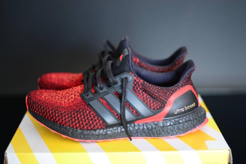 a501ec70e ... new zealand adidas ultra boost solar red custom midsole . 57553 81342