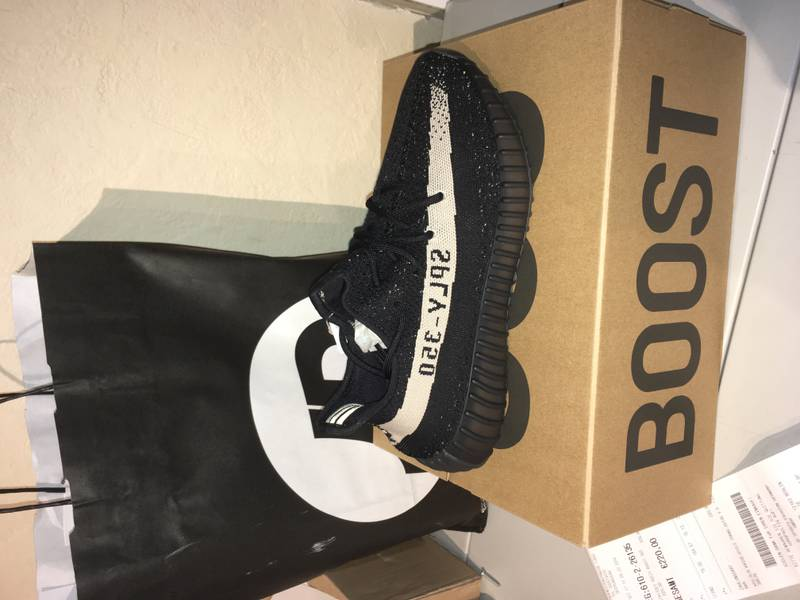 Adidas Yeezy Boost 350 V 2 Oreo Black White BY 1604 Cheap Sale