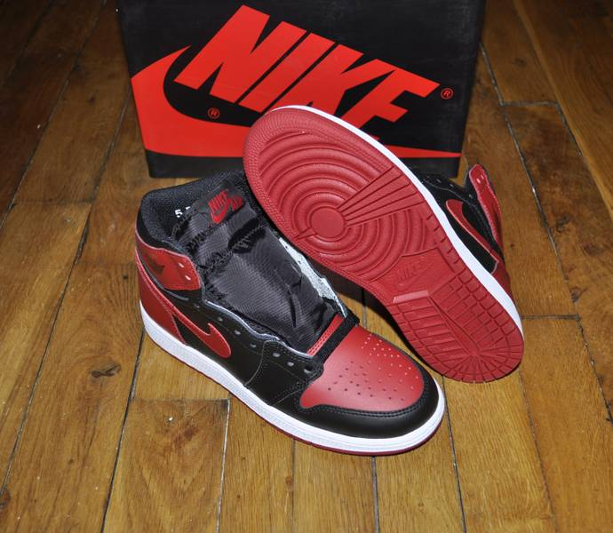 low priced 3507f e3b5a ... Nike Air Jordan 1 Bred Banned 2016 Gs Size 5,5 Us 5 Uk 38 ...