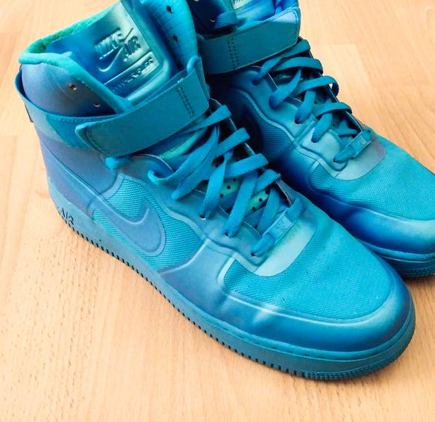 best service 5e553 90423 ... australia nike air force one high hyperfuse premium blue glow in size  us 11 uk 10