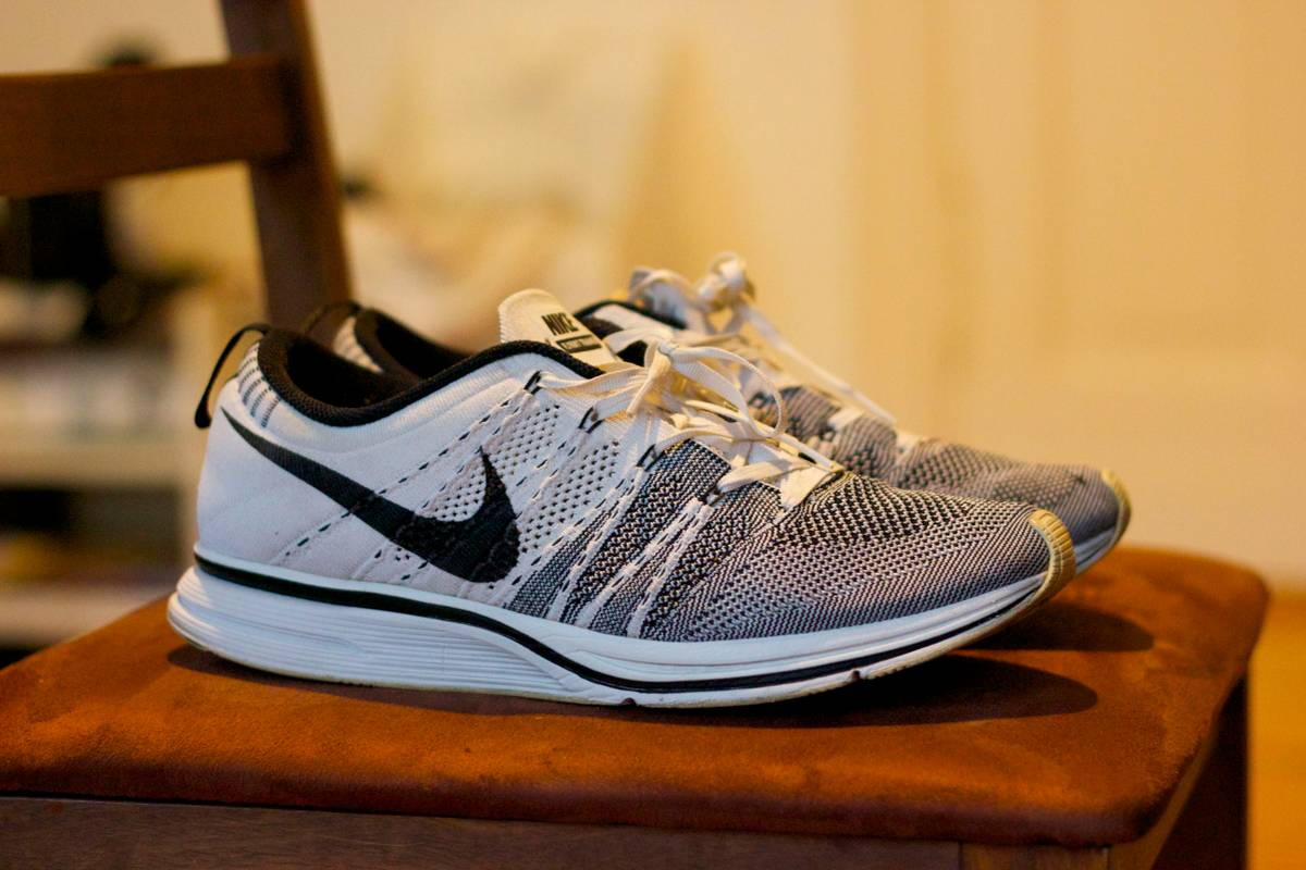 57d03b5a644d ... get nike flyknit trainer fitted white grey us 11.5 45.5 kanye west  photo 2553f 31816