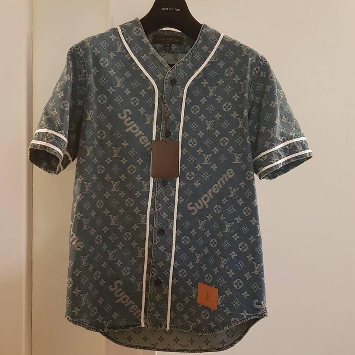 louis vuitton x supreme jacket. supreme x louis vuitton baseball shirt - photo 1/7 jacket