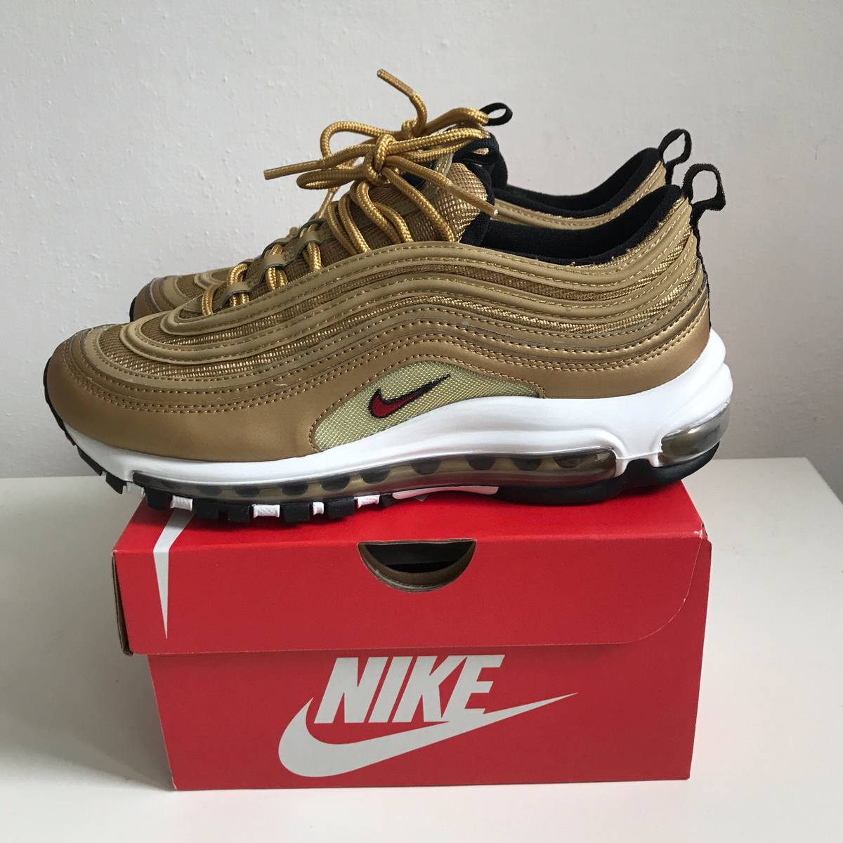 60%OFF Cheap Nike WMNS Air Max 97 OG QS gold 885691 700
